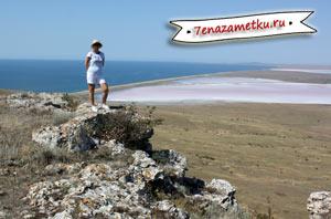 Гора Опук и розовое озеро - достопримечательности Крыма