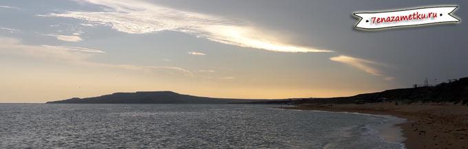 Гора Опук напоминает крокодила