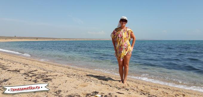 Пляж у подножия Опука
