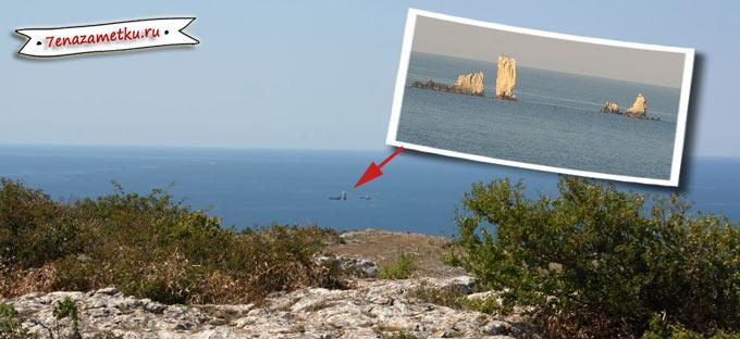 Скалы-Корабли у горы Опук