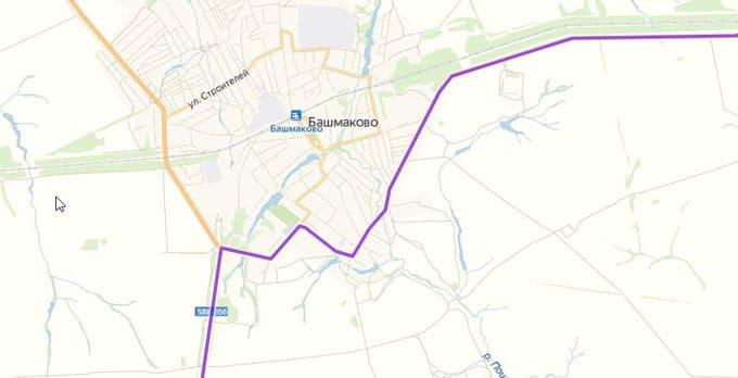 Объезд Башмаково по дороге на юг на машине