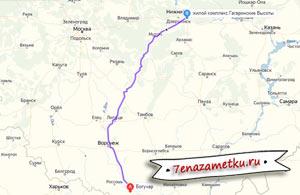 Обратная дорога на машине с юга в Нижний Новгород 2019