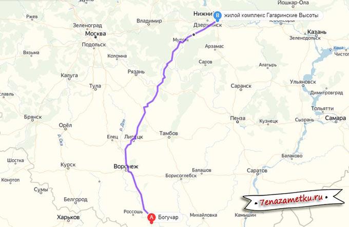 На машине от трассы М4 Дон до Нижнего Новгорода