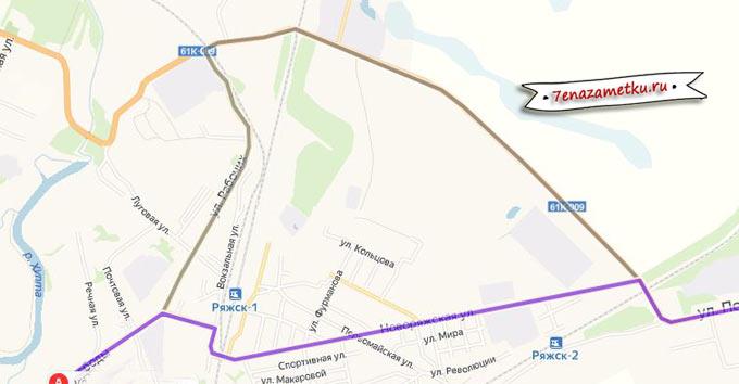 Объезд железнодорожного переезда в Ряжске